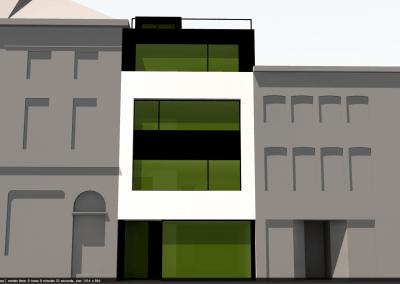 Schetsontwerp nieuwbouw appartementen
